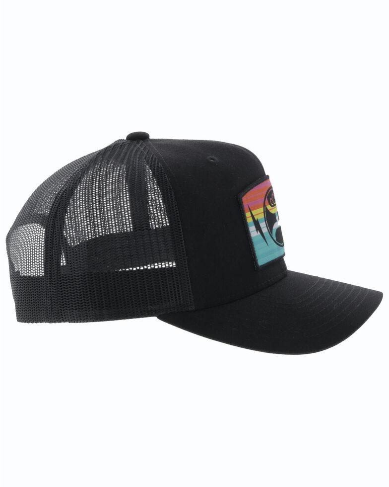 HOOey Men's Black San Lucas Embroidered Mesh Ball Cap , Black, hi-res