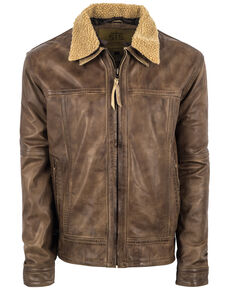 STS Ranchwear Men's Longmire Cream Leather Jacket - Big , Beige/khaki, hi-res
