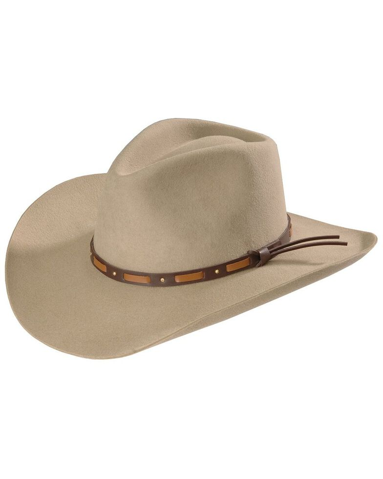 Stetson Hutchins 2XX Wool Felt Hat, Stone, hi-res