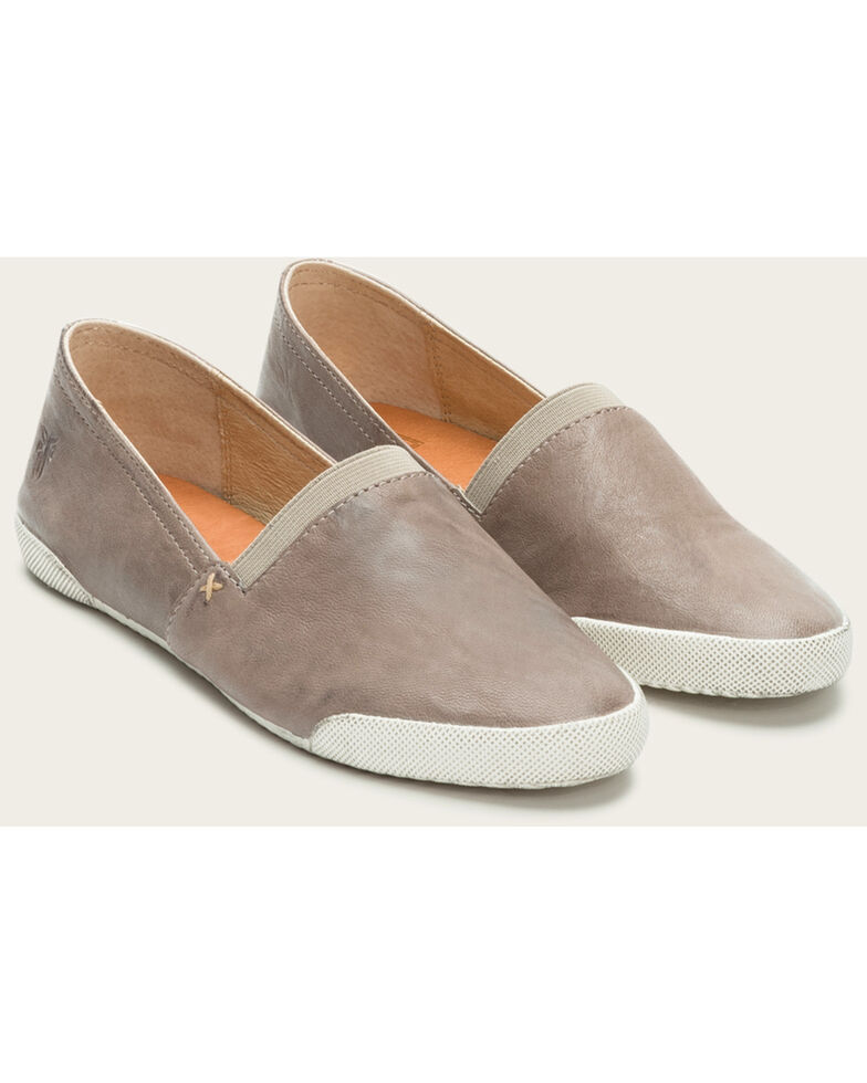 Frye Women's Grey Melanie Slip On Shoes , Grey, hi-res