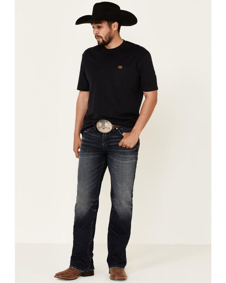 Cody James Core Men's Six Shooter Medium Wash Regular Stretch Bootcut Jeans , Blue, hi-res