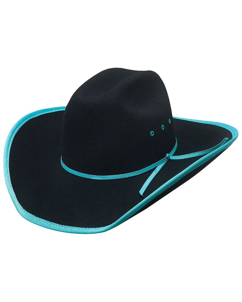 Bullhide Kid's Leave Your Mark Wool Hat, Turquoise, hi-res