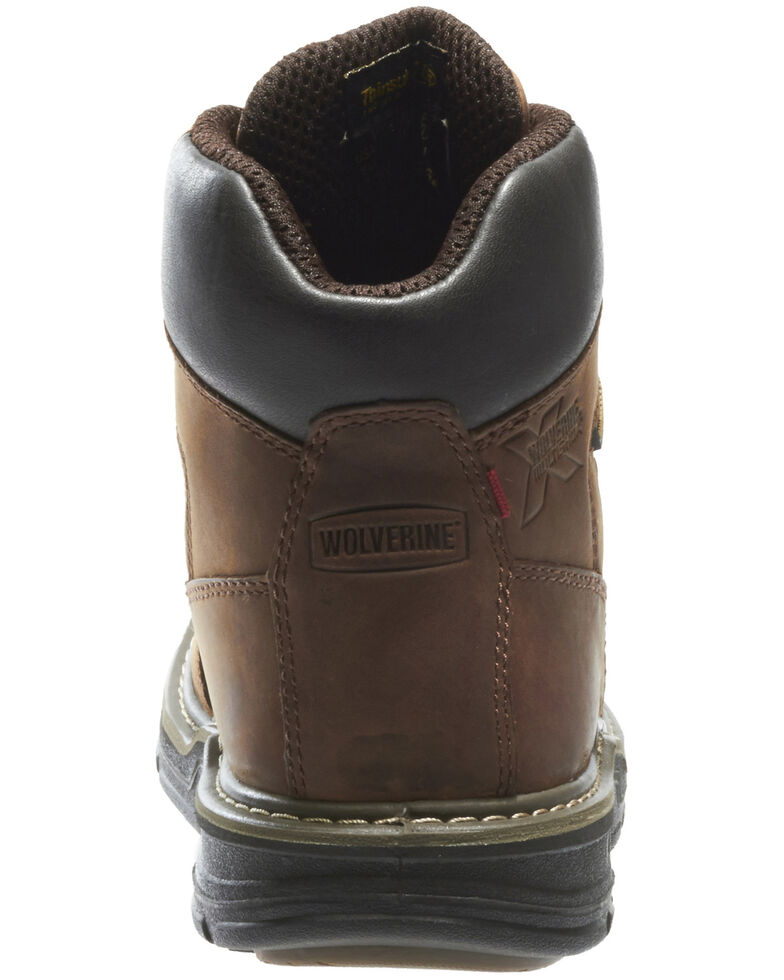 "Wolverine Men's Marauder 8"" Steel Toe Work Boots, Brown, hi-res"