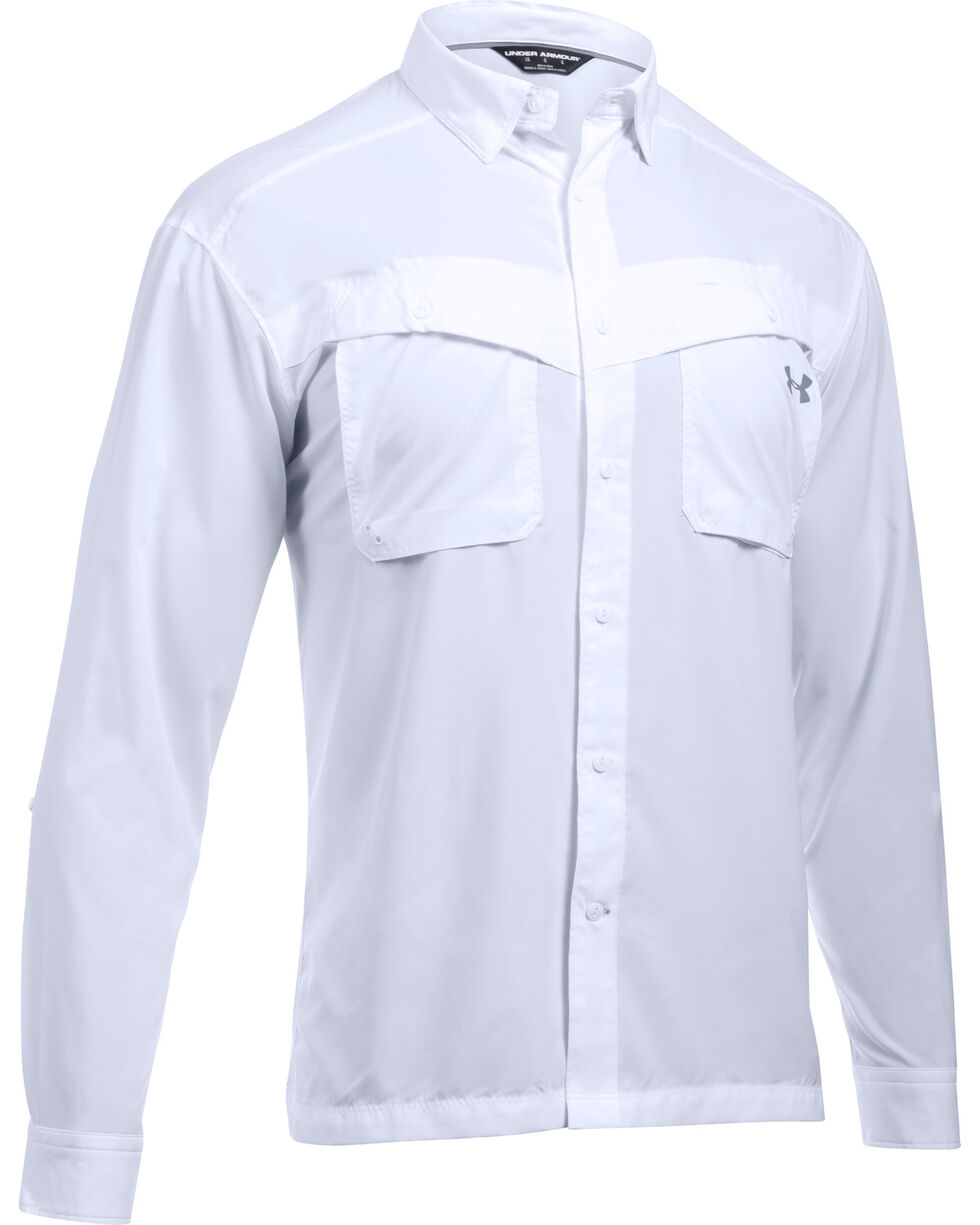 Under Armour Men's Tide Chaser Long Sleeve Shirt, White, hi-res