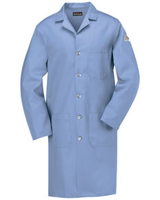 Bulwark Men's FR Lab Coat - Big, Light Blue, hi-res