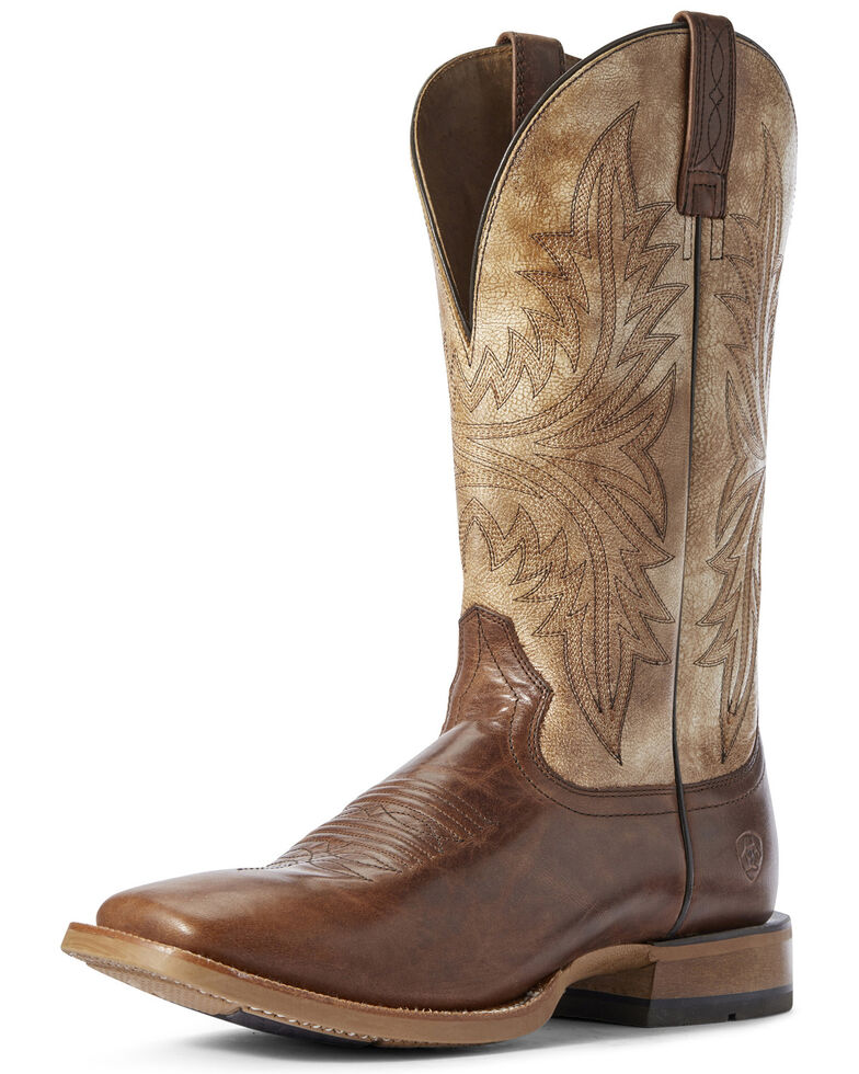 Ariat Men's Alabaster Cowhand Western Boots - Wide Square Toe, Brown, hi-res