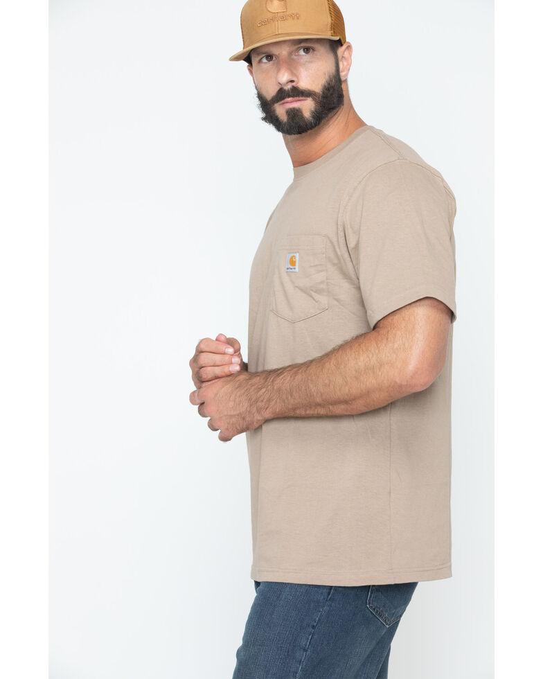 Carhartt Men's Solid Short Sleeve Pocket Work T-Shirt - Big & Tall, Desert, hi-res