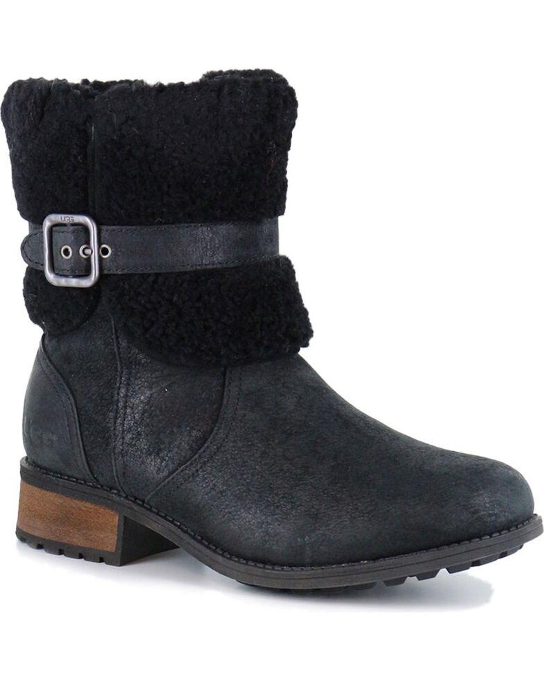UGG® Women's Blayre II Water Resistant Boots - Round Toe, Black, hi-res
