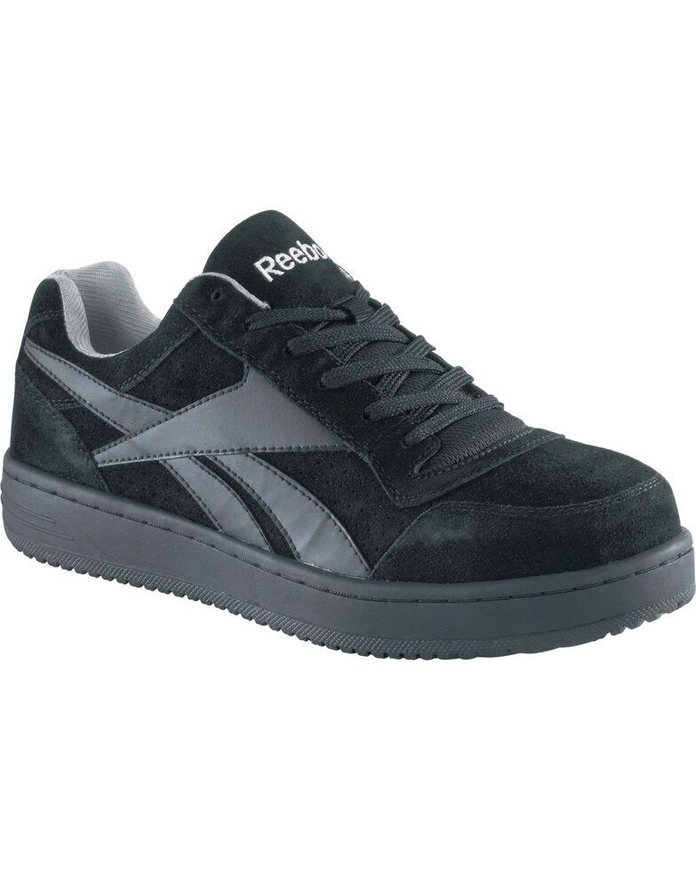 Reebok Men's Soyad Skateboard Work Shoes - Steel Toe, Black, hi-res