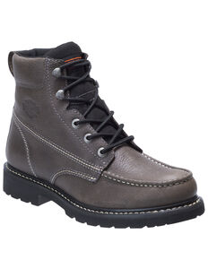 Harley Davidson Men's Markston Moto Boots - Moc Toe, Grey, hi-res
