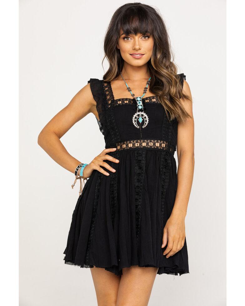 Free People Women's Verona Dress, Black, hi-res