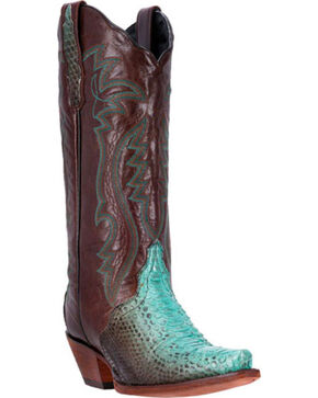 Dan Post Women's Charmer Python Western Boots, Brown, hi-res