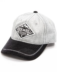 Rock & Roll Cowboy Men's Mountain Logo Patch Cap , Grey, hi-res
