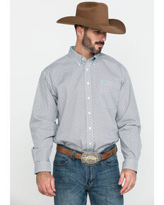 Cinch Men's Multi Small Geo Print Plain Weave Long Sleeve Western Shirt , Multi, hi-res