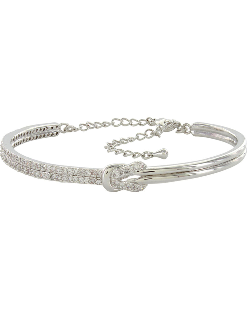 Montana Silversmiths Shimmering Knot Bangle, Silver, hi-res