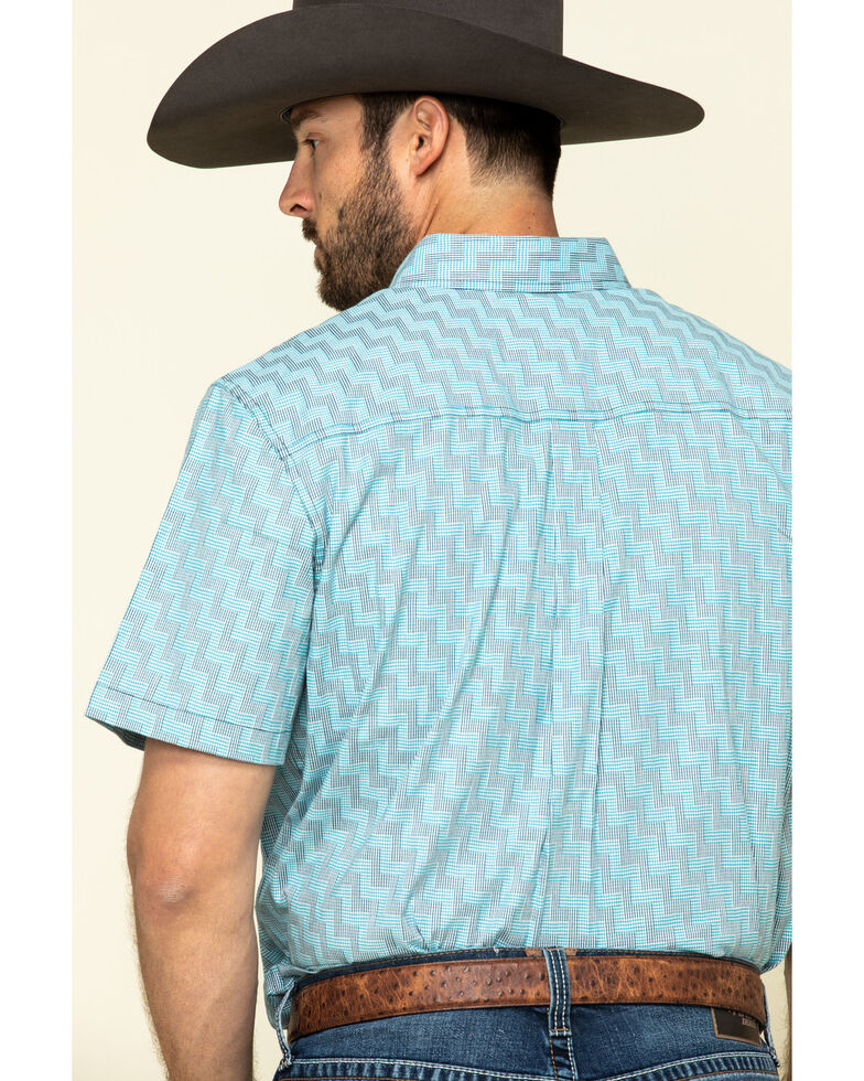 Cody James Core Men's Rodeo Clown Geo Print Short Sleeve Western Shirt - Big , , hi-res