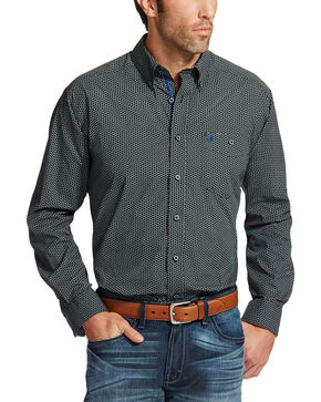 Ariat Men's Black Relentless Spur Print Western Shirt , Black, hi-res