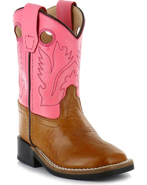 Cody James® Infant Square Toe Western Boots, Tan, hi-res