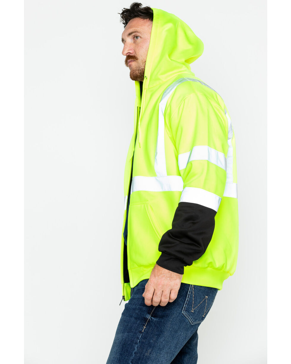 Hawx® Men's Soft Shell Visibility Safety Jacket - Big & Tall, Yellow, hi-res