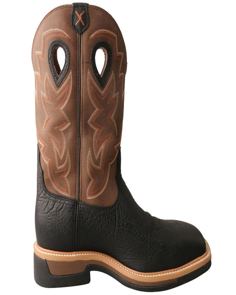 Twisted X Men's Waterproof Western Work Boots - Steel Toe, Black, hi-res