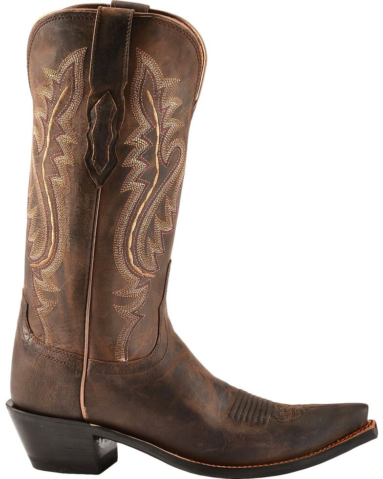 Lucchese Women's Cassidy Snip Toe Western Boots, Chocolate, hi-res