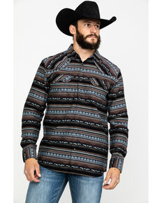 Cody James Men's Valley Grande Aztec Print Long Sleeve Western Shirt , Blue, hi-res