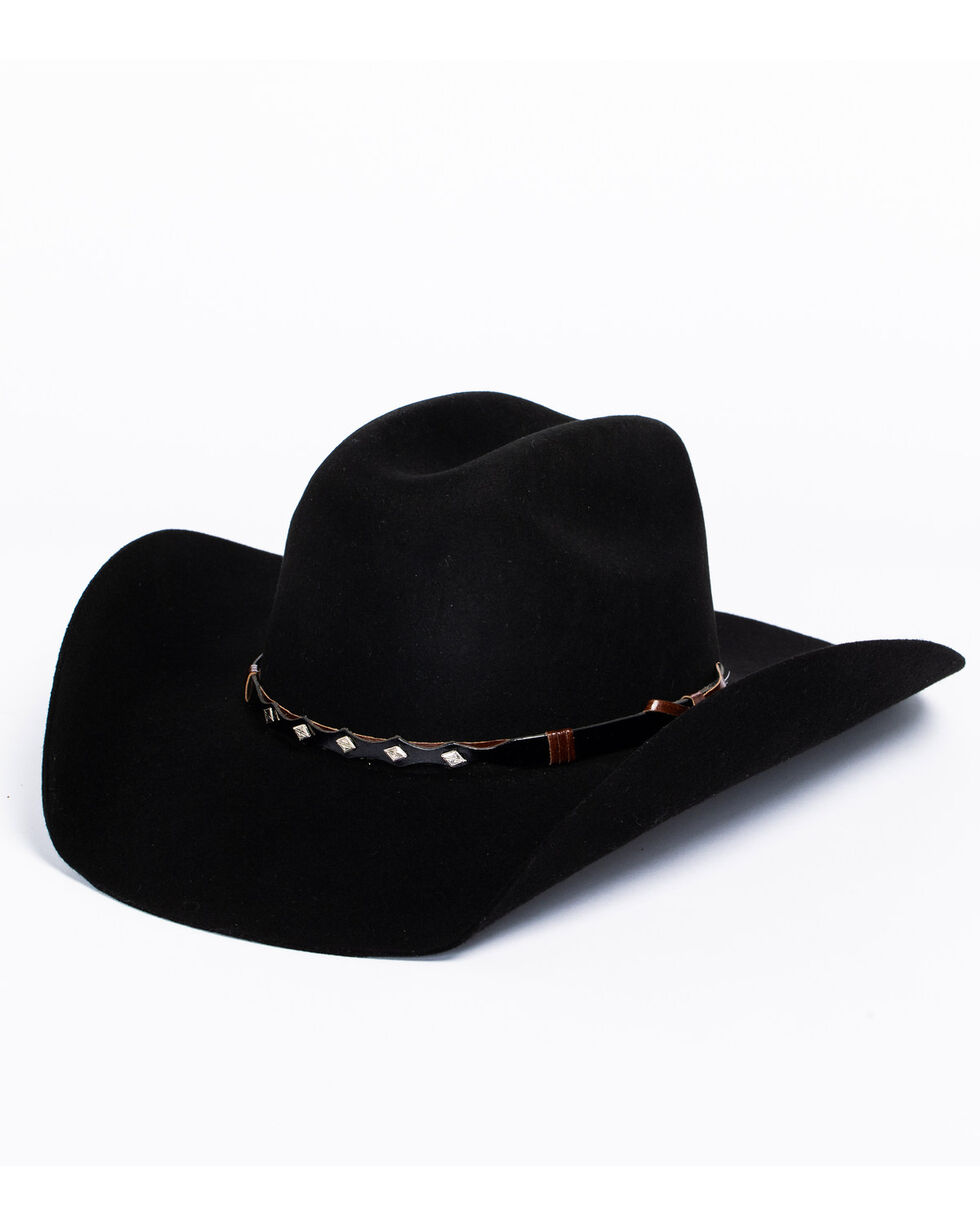 Bullhide True West 8X Fur Blend Cowboy Hat, Black, hi-res