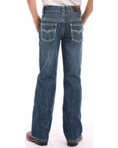 "Rock & Roll Cowboy Boys' BB Gun Small ""V"" Regular Fit Boot Cut Jeans, Indigo, hi-res"