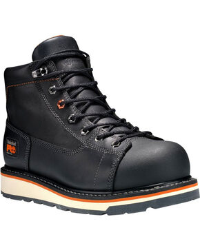 Timberland Men's Grindwork Alloy Toe Work Boots, Black, hi-res