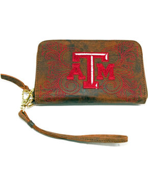 Gameday Boots Texas A&M University Leather Wristlet, Brass, hi-res