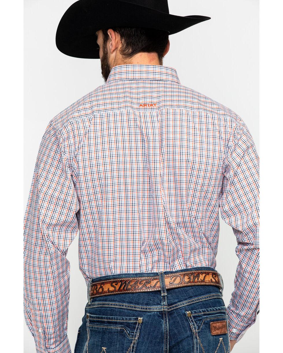 Ariat Men's Calahan Small Plaid Long Sleeve Western Shirt , Black, hi-res