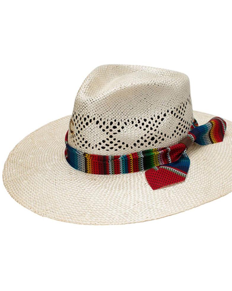 Charlie 1 Horse Women's Fiesta Sisal Straw Ribbon Western Hat , Natural, hi-res