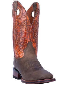 Dan Post Men's Deuce Western Boots - Wide Square Toe, Sand, hi-res