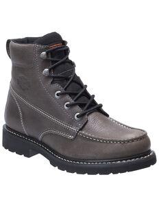 Harley Davidson Men's Markston Moto Boots - Moc Toe, Grey, hi-res