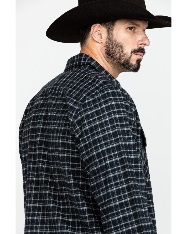 Cinch Men's Black Check Twill Plaid Shirt Jacket, Black, hi-res