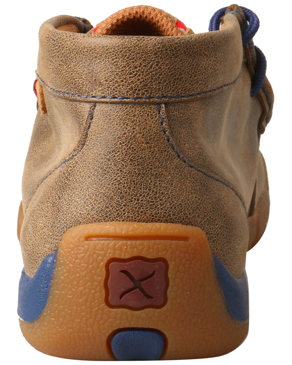 Twisted X Kids' Weave Moccasin Shoes - Moc Toe, Brown, hi-res