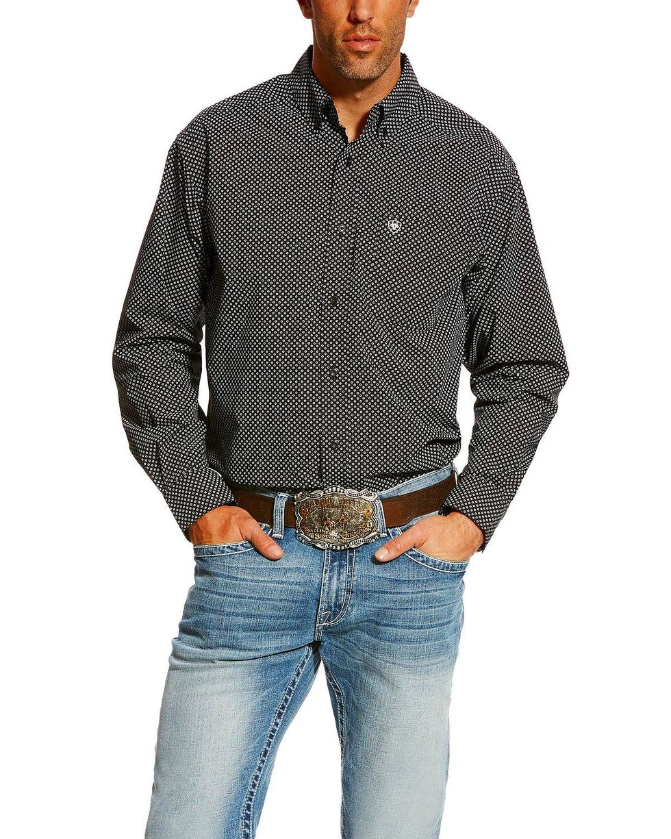 Ariat Men's Carolla Print Long Sleeve Western Shirt - Big , Navy, hi-res