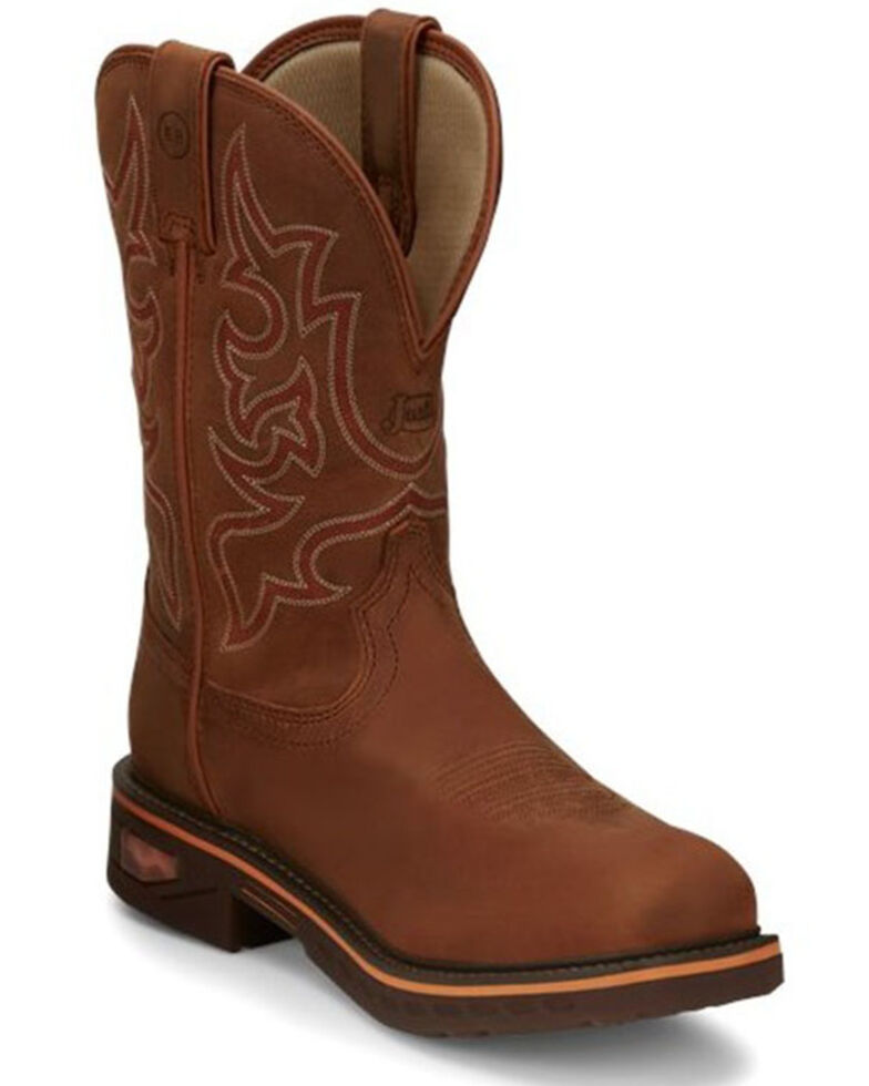 Justin Men's Resistor Russet Waterproof Western Work Boots - Nano Composite Toe, Russett, hi-res