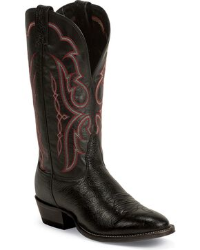 Nocona Men's Bull Shoulder Western Boots, Black, hi-res