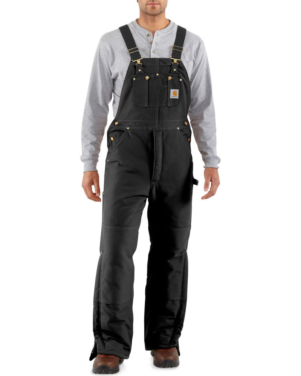 Carhartt Men's Artic Quilt Lined Bib Overalls, Black, hi-res