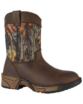 Rocky Boys' Aztec Wellington Outdoor Boots - Round Toe, Multi, hi-res