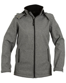 STS Ranchwear Women's Grey Barrier Softshell Hooded Jacket - Plus, Light Grey, hi-res