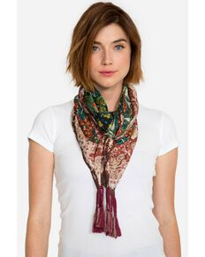 Johnny Was Women's Paisley Silk Scarf, Multi, hi-res