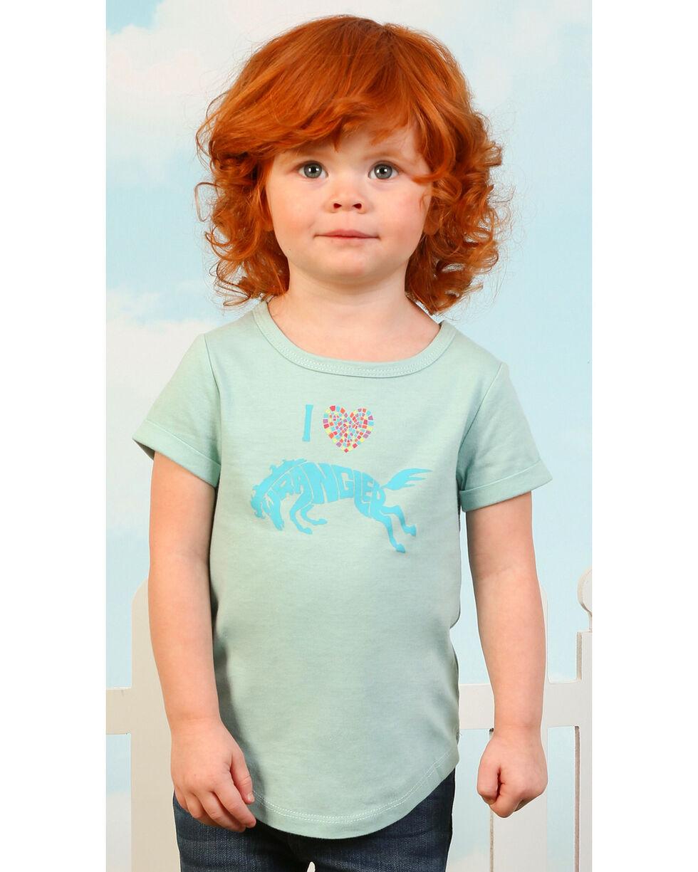 Wrangler Toddler Girls' Turquoise I Heart Wrangler Tee , Turquoise, hi-res