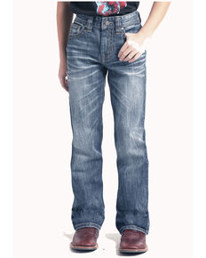 Rock & Roll Cowboy Boys' Large V Reflex Boot Jeans , Blue, hi-res