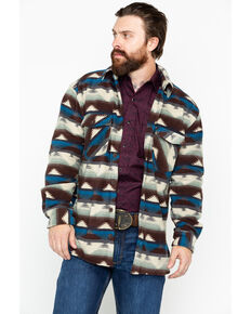 Outback Trading Co. Men's Aztec Fleece Indy Big Shirt Jacket, Natural, hi-res