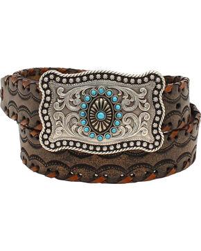 Ariat Women's Lace Stitch Belt , Brown, hi-res