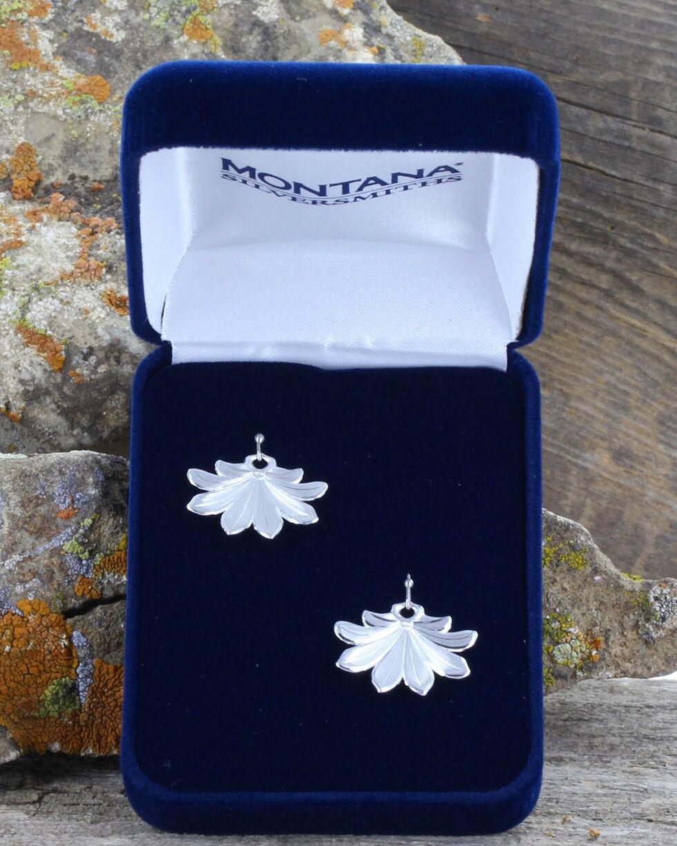 Montana Silversmiths Women's Bitterroot Flower Fan Earrings , Silver, hi-res
