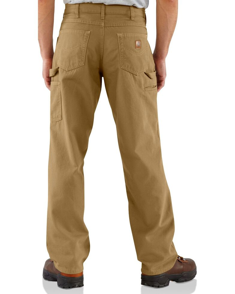 Carhartt Men's Loose Fit Canvas Carpenter Jeans, Khaki, hi-res