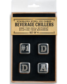 Demdaco Silver #1 Dad Beverage Chiller Set , Silver, hi-res